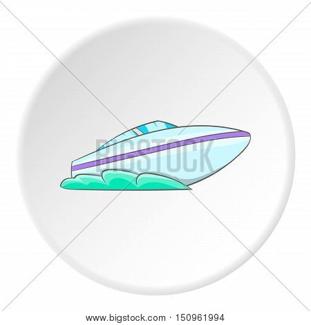Speed boat icon. Cartoon illustration of speed boat vector icon for web