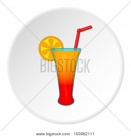 Fruit cocktail icon. Cartoon illustration of fruit cocktail vector icon for web