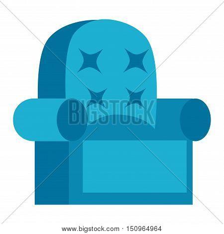 Furniture armchair home decor icon vector illustration. Indoor armchair interior room sign, office bookshelf furniture icon. Modern closet armchair silhouette furniture icon outline decoration.