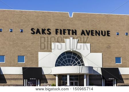Indianapolis - Circa October 2016: Saks Fifth Avenue Mall Location. Saks Is A Luxury Department Stor