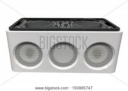 image of DJ console isolated on white background