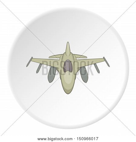 Military aircraft icon. Cartoon illustration of military aircraft vector icon for web