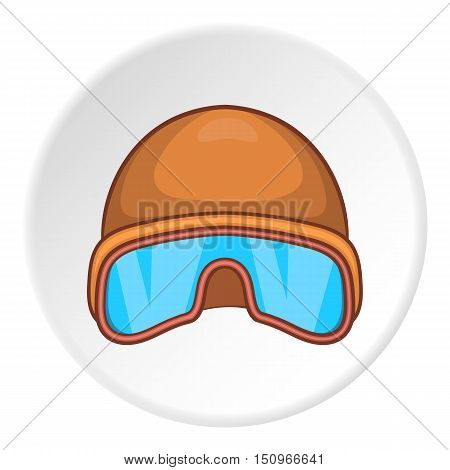 Hat and sunglasses tanker icon. Cartoon illustration of hat and sunglasses tanker vector icon for web