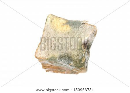 A loaf of bread full of mold / Expired food concept