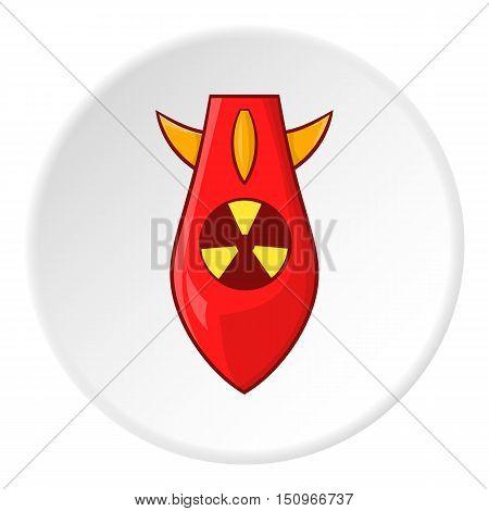Nuclear warhead icon. Cartoon illustration of nuclear warhead vector icon for web