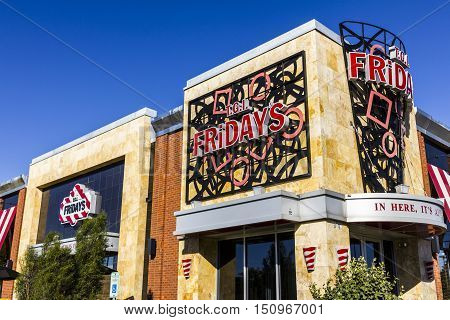 Indianapolis - Circa October 2016: Tgi Friday's Restaurant Location. Tgi Fridays Offers Great Food A