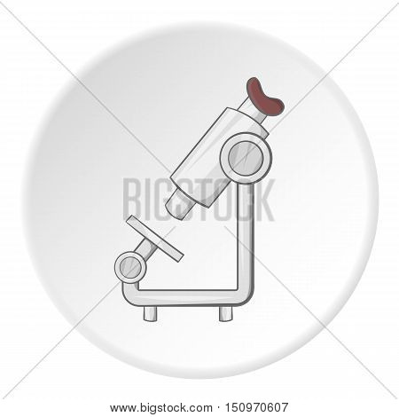 Microscope icon. Cartoon illustration of microscope vector icon for web