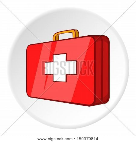 First aid kit icon. Cartoon illustration of first aid kit vector icon for web