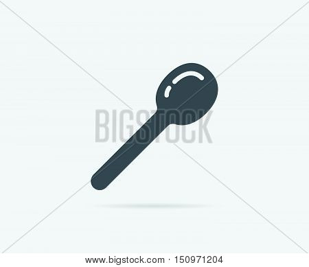 Kitchen Wood Spatula Spoon Vector Element Or Icon, Illustration Ready For Print Or Plotter Cut Or Us