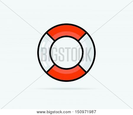 Vector Illustration Of Lifebuoy Can Be Used As Logo Or Icon