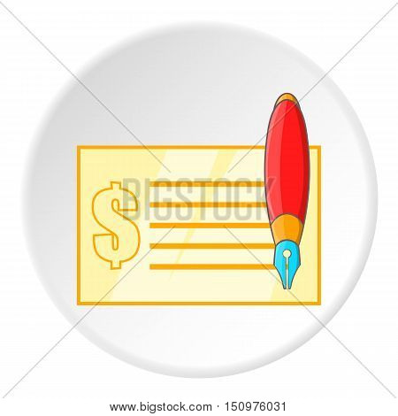 Checkbook icon. Cartoon illustration of checkbook vector icon for web