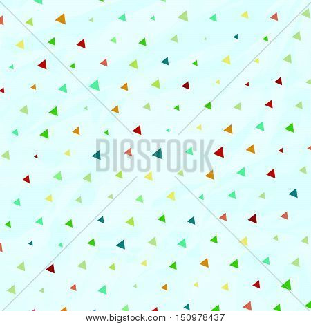 Vintage Polka Dots But Triangles In Vector
