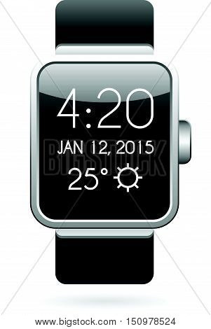Smart Watch Illustration in Vector eps 10