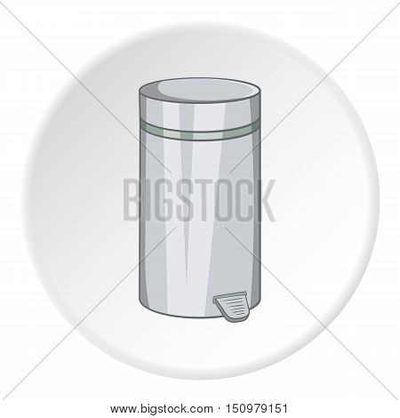Home trash icon. Cartoon illustration of home trash vector icon for web