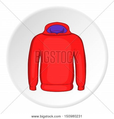 Men winter sweatshirt icon. Cartoon illustration of men winter sweatshirt vector icon for web