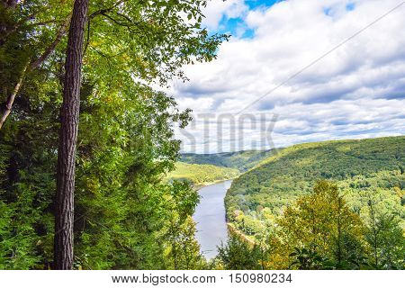 View of the Allegheny River in Western Pennsylvania.