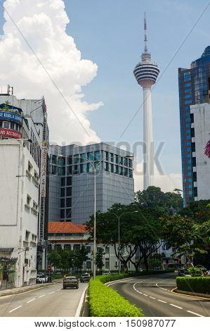 KUALA LUMPUR MALAYSIA - JANUARY 16 2016: View of Kuala Lumpur Cityscape. KL is the capital and most populous city in Malaysia.View of Kuala Lumpur Cityscape. KL is the capital and most populous city in Malaysia.