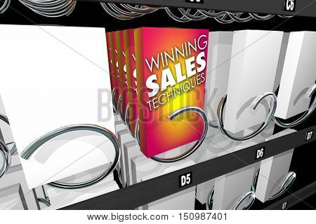 Winning Sales Techniques Snack Vending Machine 3d Illustration
