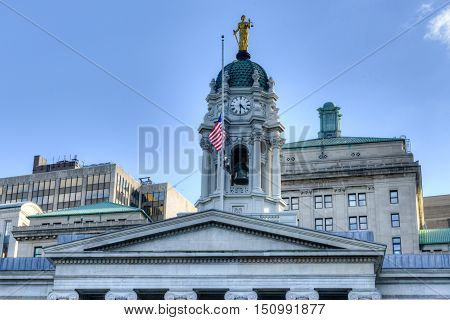 New York City - Sept 15, 2012: Brooklyn Borough Hall in New York USA. Constructed in 1848 in the Greek Revival style.