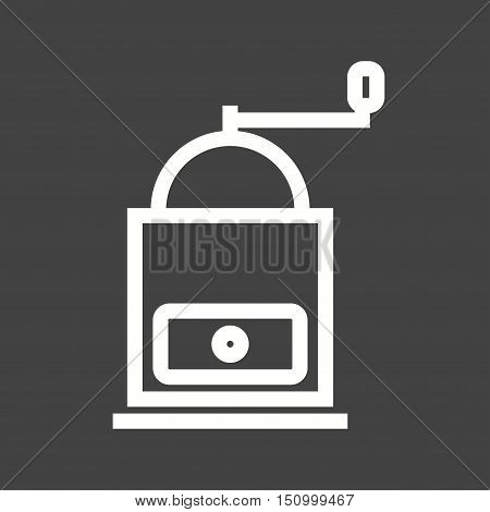 Coffee, machine, grinder icon vector image. Can also be used for coffee shop. Suitable for web apps, mobile apps and print media.