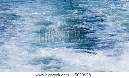 Wave Of A Ferry Ship On The Open Ocean