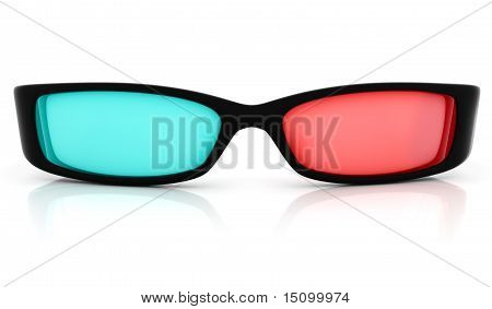Stereo 3D glasses on white