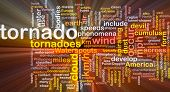 stock photo of colouder  - Background concept wordcloud illustration of tornado storm weather glowing light - JPG