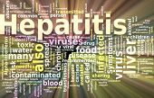 foto of hepatitis  - Word cloud concept illustration of Hepatitis disease glowing light effect - JPG