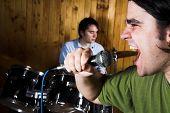 Drummer And Rock Singer