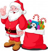 stock photo of santa-claus  - Ilustration for Christmas and New Year - JPG