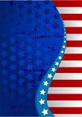 foto of american flags  - An American flag vertical background - JPG