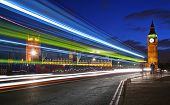 picture of london night  - Traffic through London  - JPG