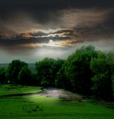 stock photo of landscapes beautiful  - Moody Landscape - JPG