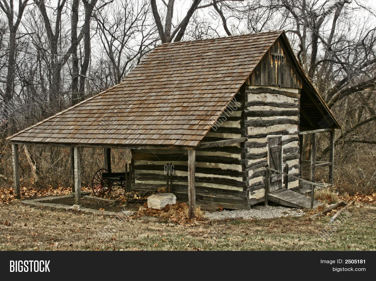 Old Log Cabin In The Woods Stock Photo Stock Images