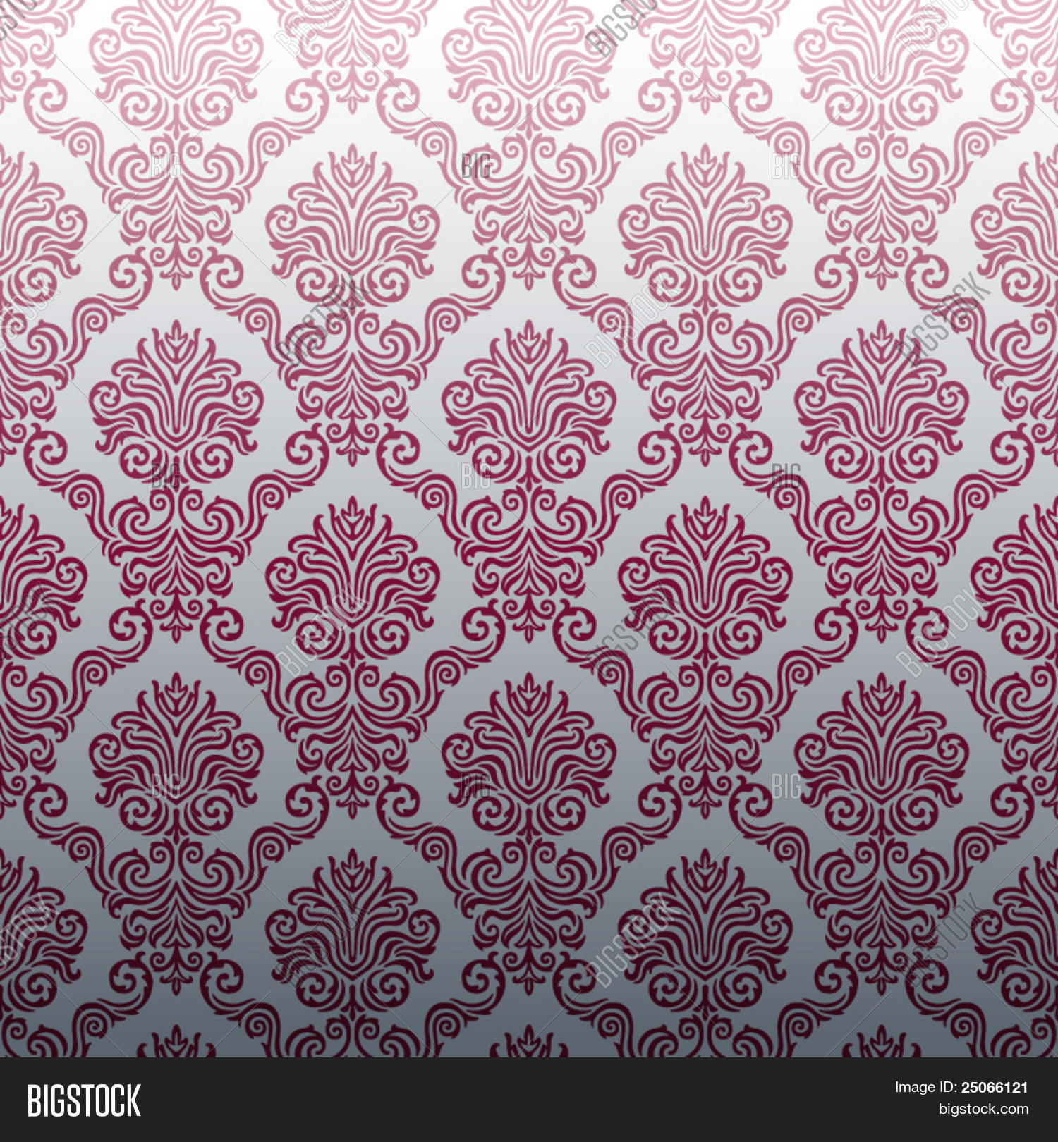 Seamless Damask wallpaper. Seamless Damask wallpaper Stock Vector   Stock Photos   Bigstock