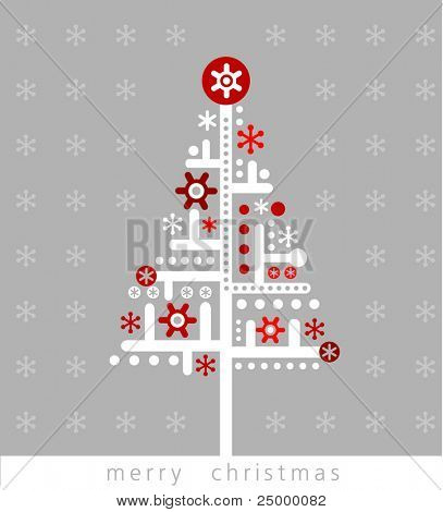 Very Modern christmas greeting card