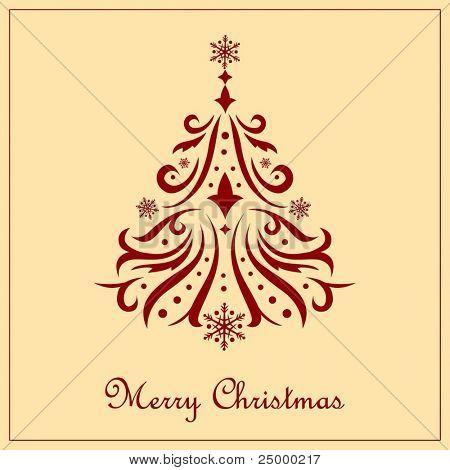 Vector ornamental christmas tree