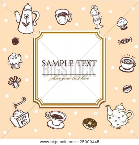 Cafe menu template, vector illustration