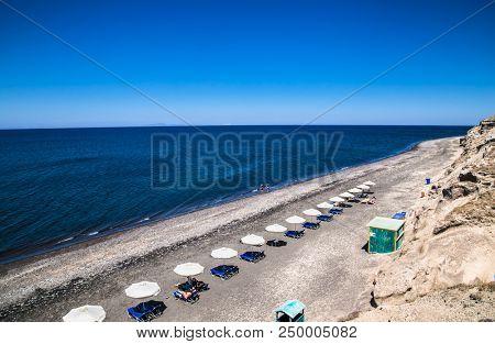 Black Pori Beach on Santorini