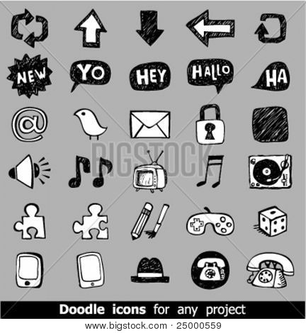 Iconos de web Doodle