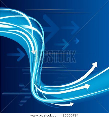 Ultra-modern blue background with arrows