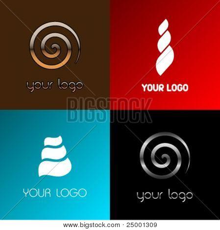 Vector snail logos
