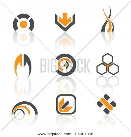 Vector logos colorida versión