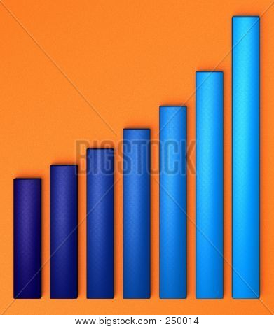 Blue Chart On Orange