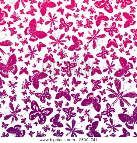 Vector wallpaper of butterflies