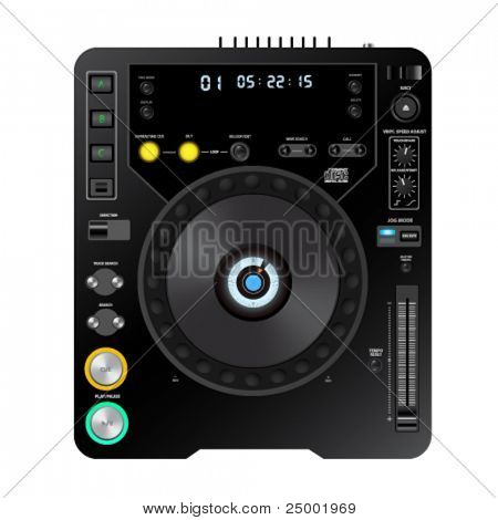 vector dj cd player illustration