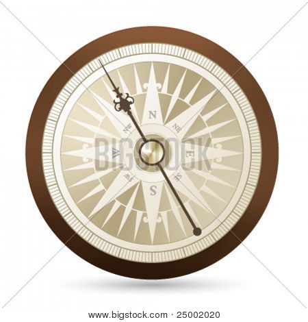 antique vector compass illustration