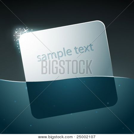 vector text label in water