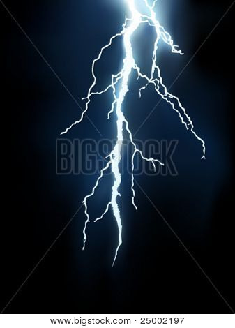 vector lightning illustration