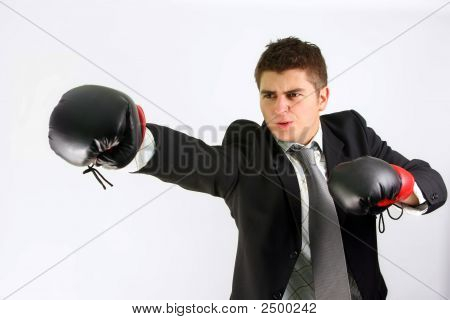 Boxing Businessman